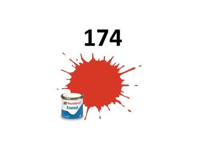 Humbrol barva emailová 174 Signal Red - Satin