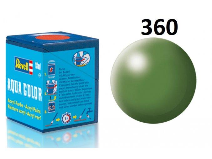 Revell barva akrylová - 36360: hedvábná zelená (green silk)