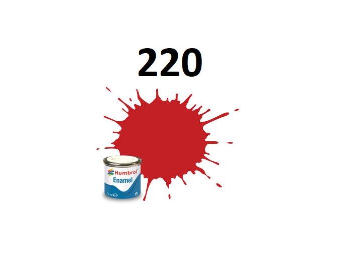 Humbrol barva emailová 220 Racing Red - Gloss