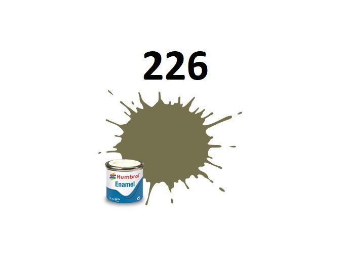 Humbrol barva emailová 226 Interior Green - Matt