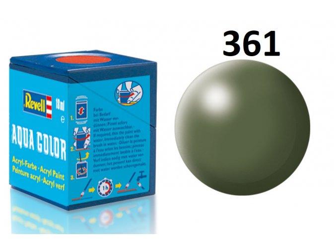 Revell barva akrylová - 36361: hedvábná olivově zelená (olive green silk)