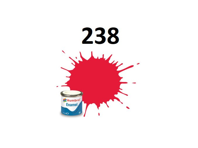 Humbrol barva emailová 238 Arrow red - Gloss