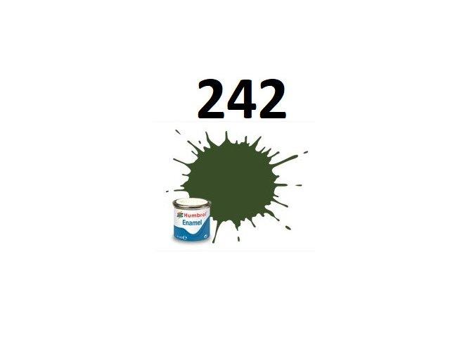 Humbrol barva emailová 242 RLM 71 Dunkelgrun - Matt