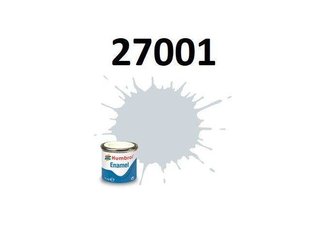 Humbrol barva emailová 27001 Matt Aluminium - Metalíza, Leštitelná
