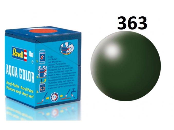 Revell barva akrylová - 36363: hedvábná tmavě zelená (dark green silk)