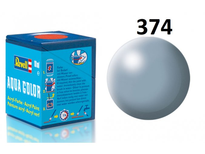 Revell barva akrylová - 36374: hedvábná šedá (grey silk)