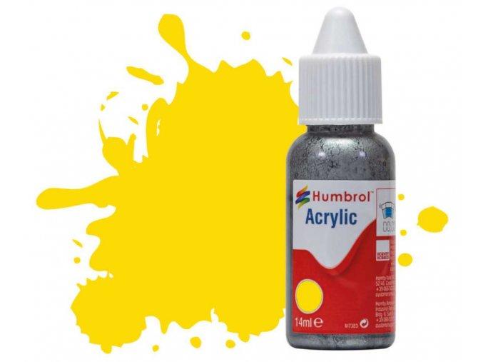 Humbrol barva akryl 69 Yellow - Gloss