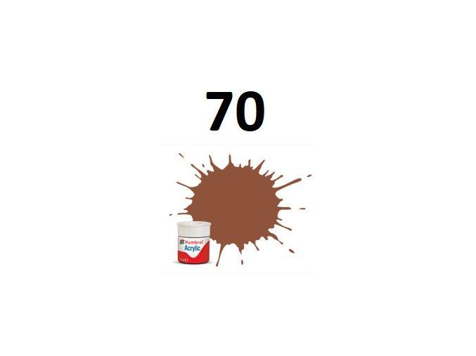 Humbrol barva akryl 70 Brick Red - Matt