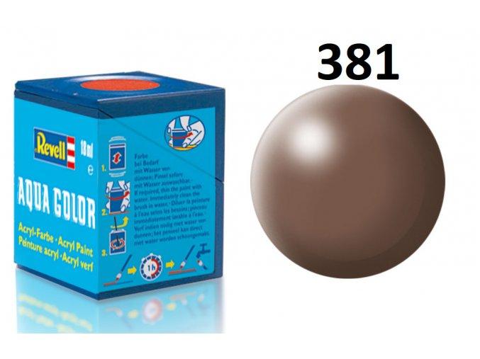 Revell barva akrylová - 36381: hedvábná hnědá (brown silk)