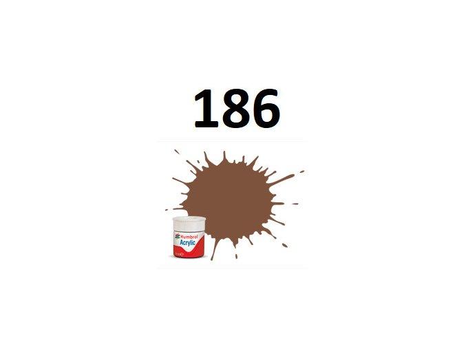 Humbrol barva akryl 186 Brown - Matt