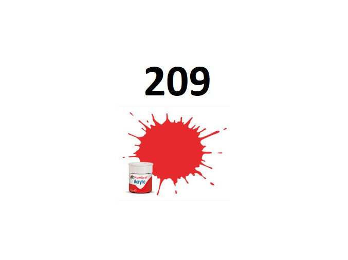 Humbrol barva akryl 209 Fire Orange - Gloss