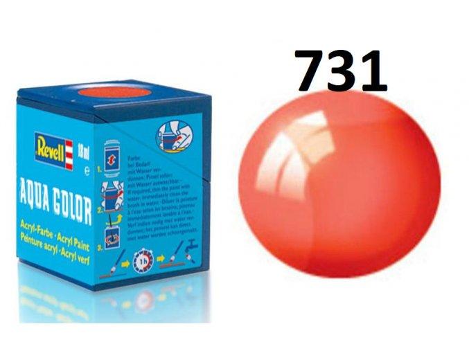Revell barva akrylová - 36731: transparentní červená (red clear)