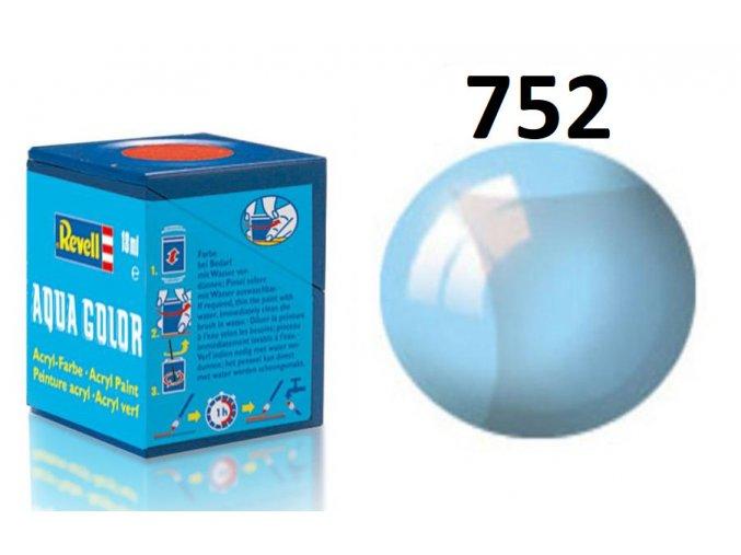 Revell barva akrylová - 36752: transparentní modrá (blue clear)