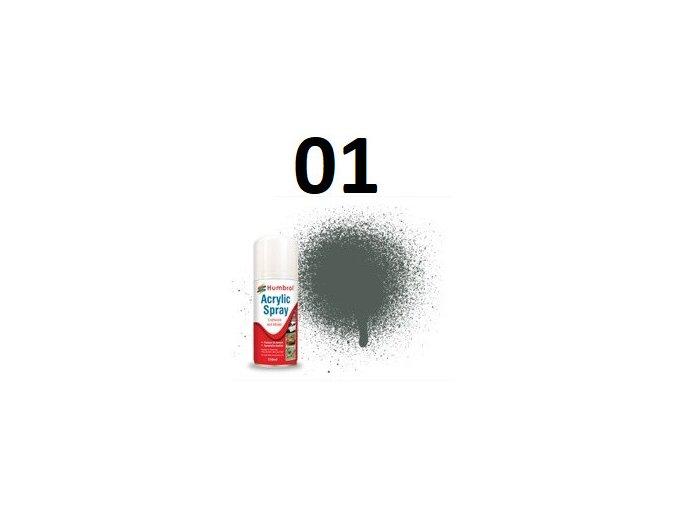 Humbrol sprej akryl 01 Grey Primer - Matt základní barva