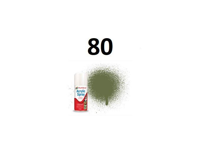 Humbrol sprej akryl 80 Grass Green - Matt