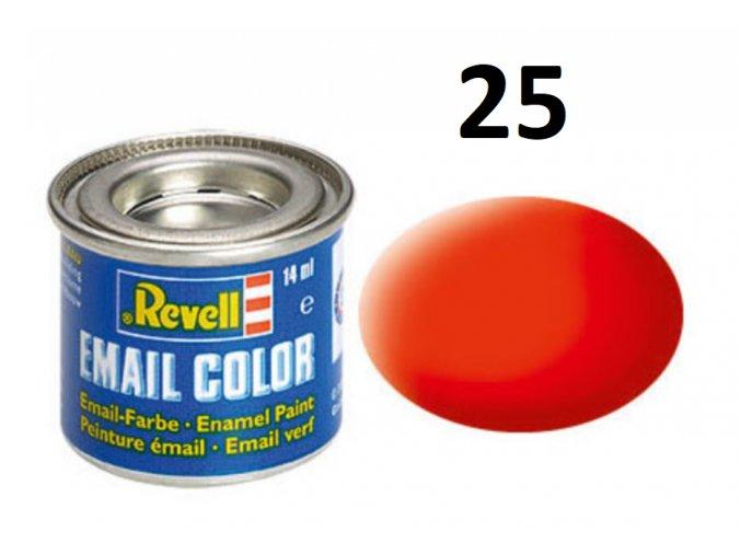Revell barva emailová - 32125: matná světle oranžová (luminous orange mat)