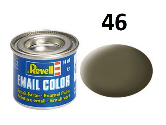 Revell barva emailová - 32146: matná olivová NATO (nato olive mat)