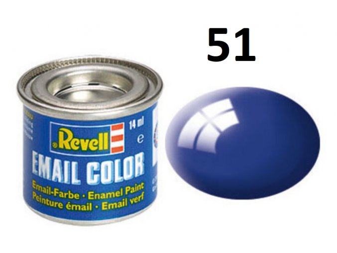Revell barva emailová - 32151: leská ultramarínová modrá (ultramarine-blue gloss)
