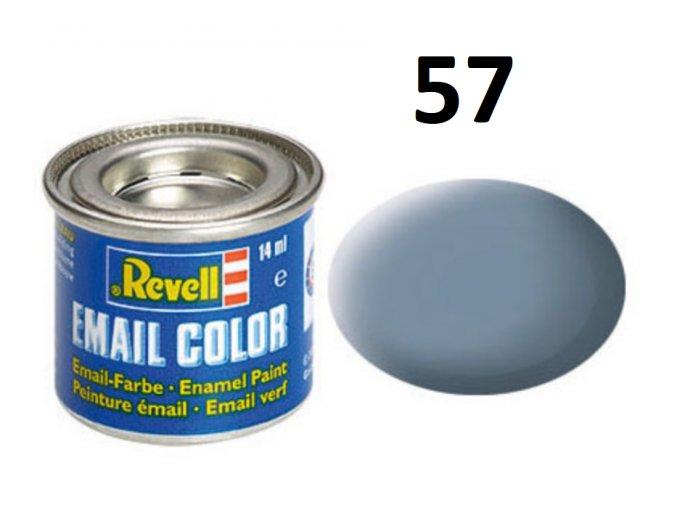 Revell barva emailová - 32157: matná šedá (grey mat)