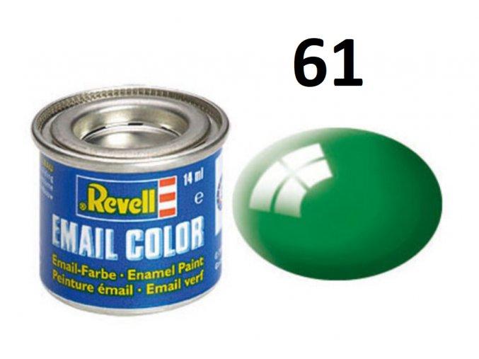 Revell barva emailová - 32161: lesklá smaragdově zelená (emerald green gloss)