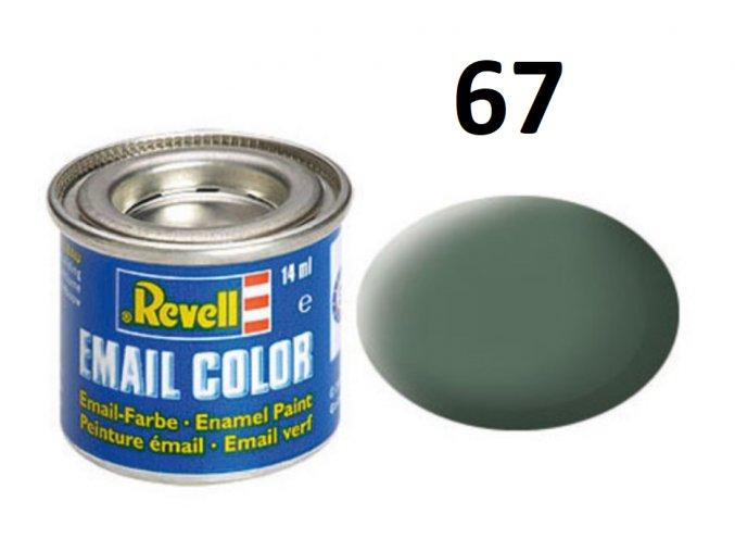 Revell barva emailová - 32167: matná zelenavě šedá (greenish grey mat)