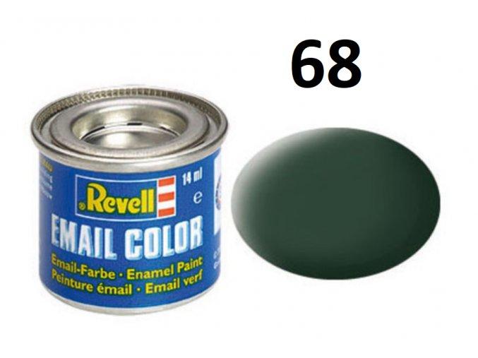 Revell barva emailová - 32168: matná tmavě zelená (dark green mat RAF)