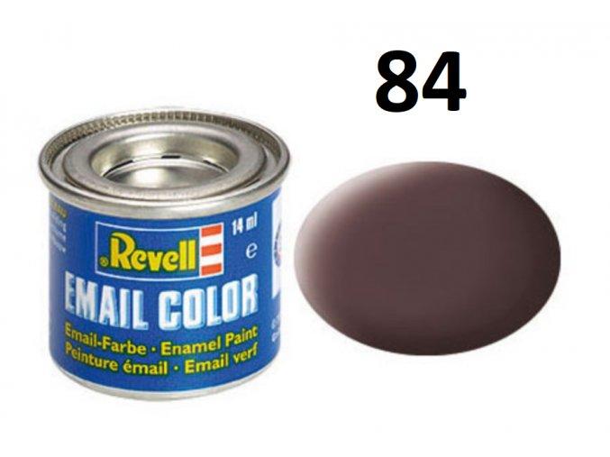 Revell barva emailová - 32184: matná koženě hnědá (leather brown mat)