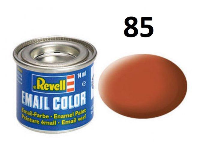 Revell barva emailová - 32185: matná hnědá (brown mat)