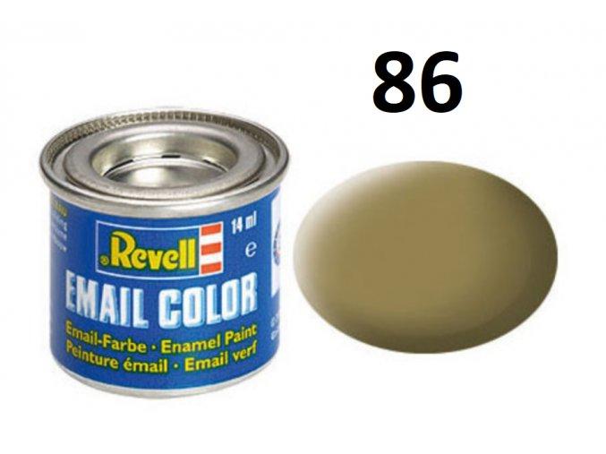 Revell barva emailová - 32186: matná olivově hnědá (olive brown mat)