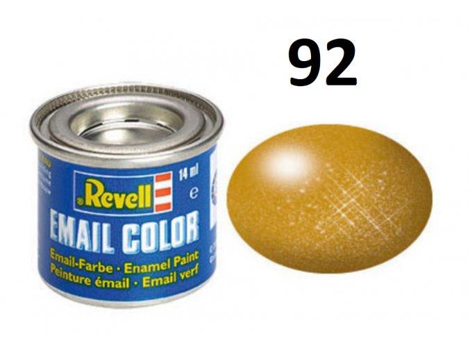 Revell barva emailová - 32192: metalická mosazná (brass metallic)