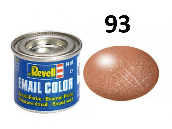 Revell barva emailová - 32193: metalická měděná (copper metallic)