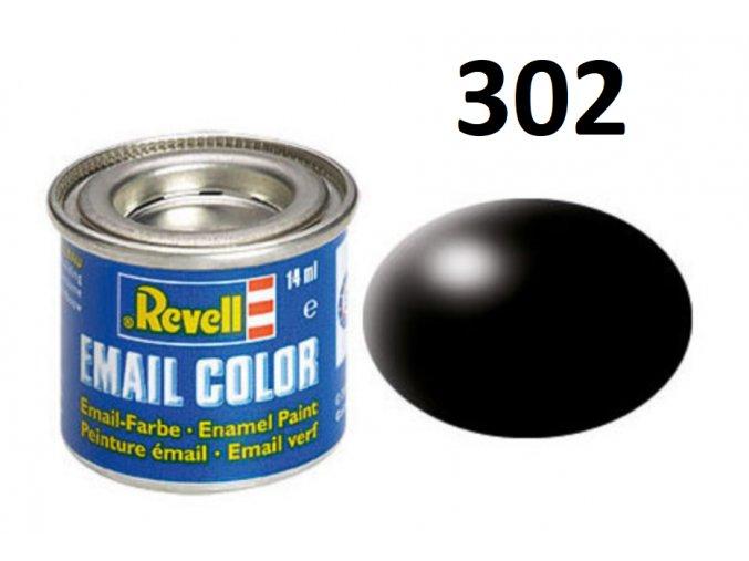 Revell barva emailová - 32302: hedvábná černá (black silk)