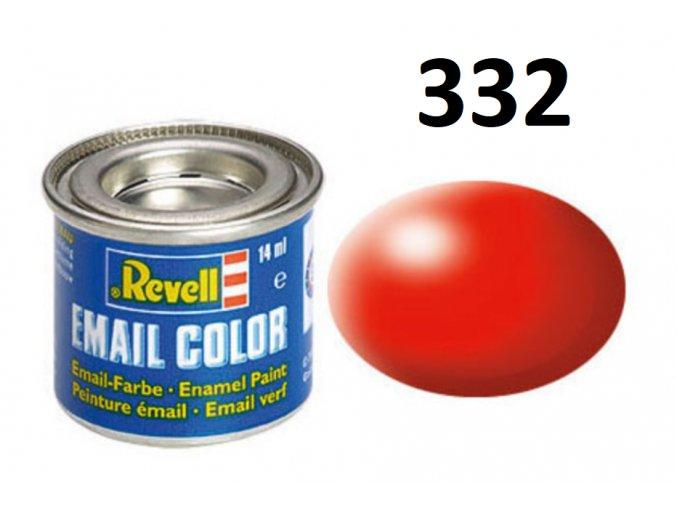 Revell barva emailová - 32332: hedvábná světle červená (luminous red silk)