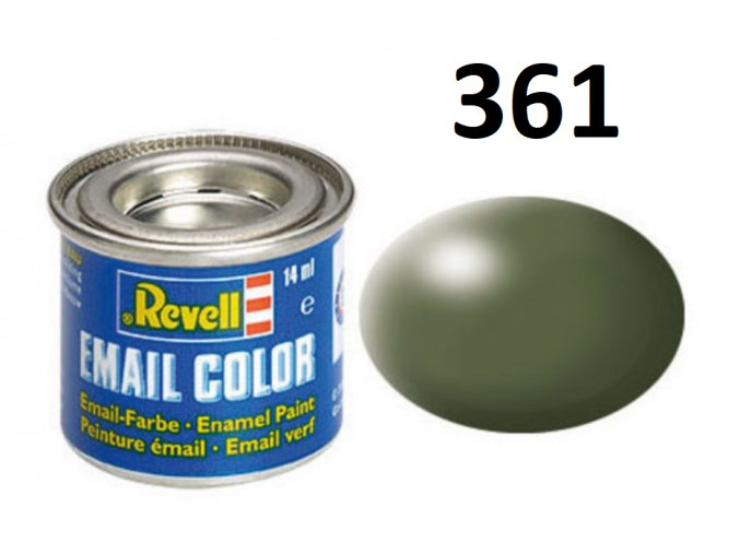 Revell barva emailová - 32361: hedvábná olivově zelená (olive green silk)