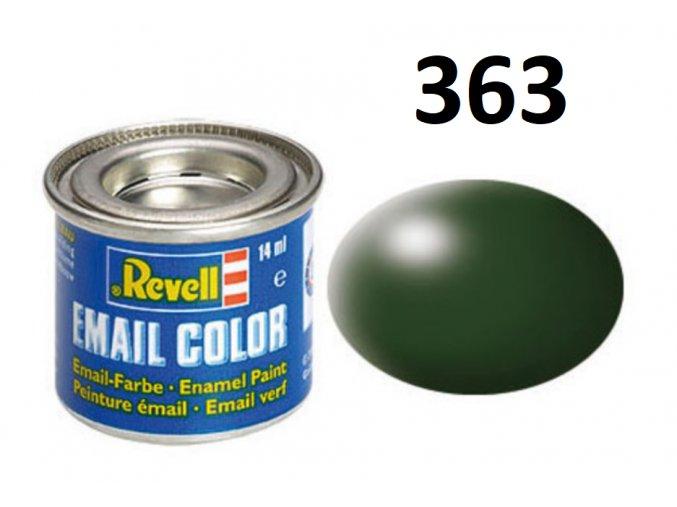 Revell barva emailová - 32363: hedvábná tmavě zelená (dark green silk)