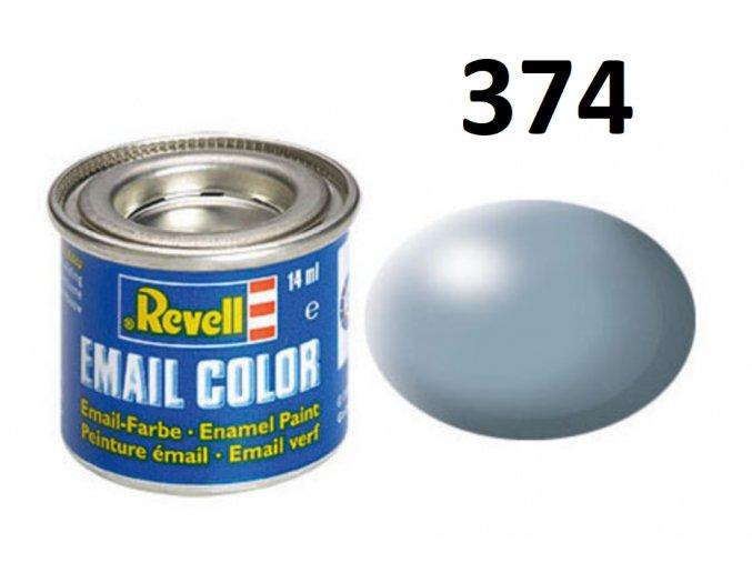 Revell barva emailová - 32374: hedvábná šedá (grey silk)