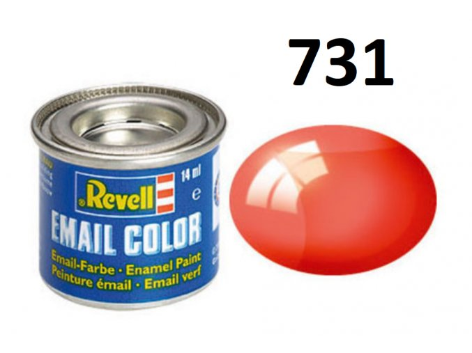 Revell barva emailová - 32731: transparentní červená (red clear)