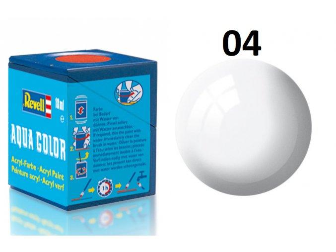 Revell barva akrylová - 36104: lesklá bílá (white gloss)