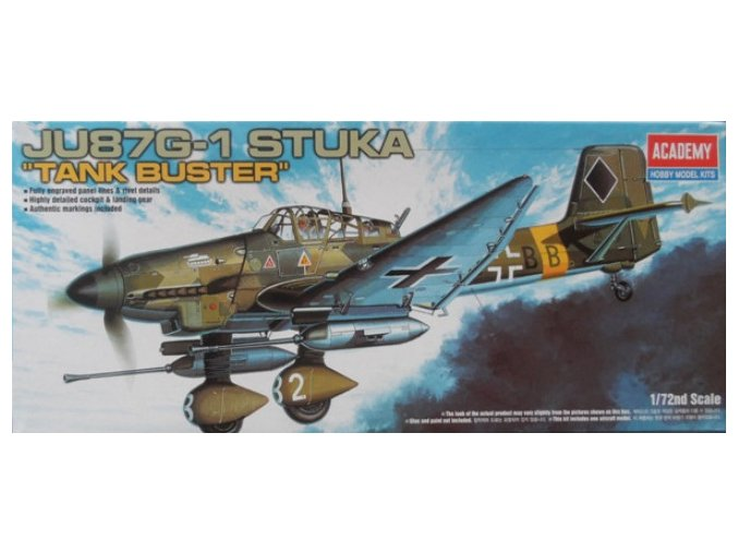 Academy letadlo Junkers Ju-87G-1 Stuka Tank Buster 1:72 12450