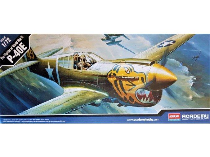 Academy letadlo Curtiss P-40E 1:72 12468