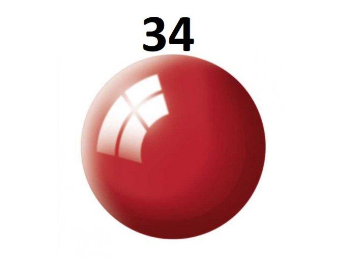 Revell barva (34) akrylová nebo emailová (Ferrari red gloss)