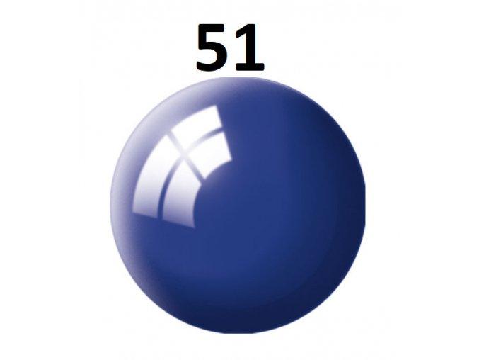 Revell barva (51) akrylová nebo emailová (ultramarine-blue gloss)