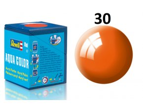 Revell barva akrylová - 36130: lesklá oranžová (orange gloss)