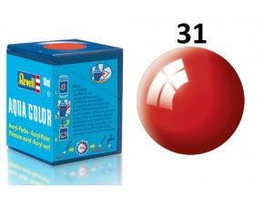 Revell barva akrylová - 36131: leská ohnivě rudá (fiery red gloss)