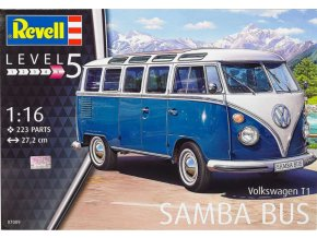 Revell auto Volkswagen T1 Samba Bus 1:16 07009