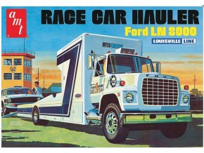 AMT Ford LN 8000 Race Car Hauler 1:25 AMT758