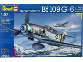 Revell letadlo Messerschmitt Bf109 G-6 Late & Early Version 1:32 04665