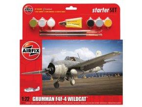 Airfix letadlo Grumman F4F-4 Wildcat Starter-Set 1:72 A55214