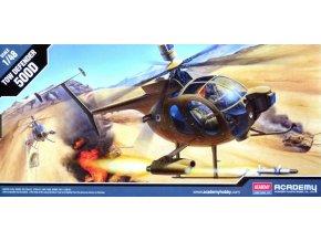 Academy vrtulník HUGHES 500D TOW HELICOPTER 1:48 12250