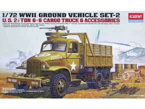Academy auto U.S. 2 1/2 Ton 6x6 Cargo Truck & Accessories 1:72 13402